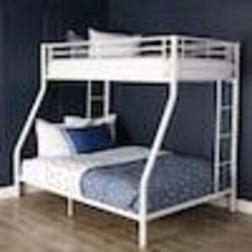 Walker Edison White Twin Over Full Bunk Bed