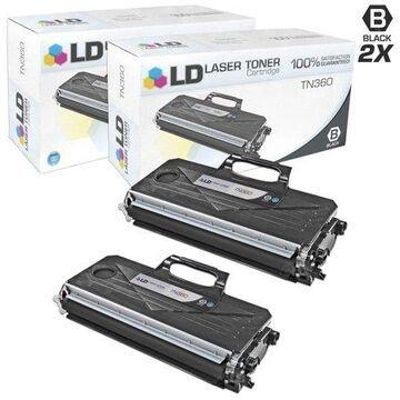 LD Products Compatible TN360 (TN330) Set of 2 Black Toner Cartridges