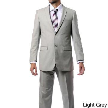 Zonettie-Ferrecci Mens Regular Fit 2pc Solid Color Suit