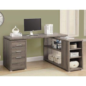 Monarch L Shaped Computer Desk - Grey