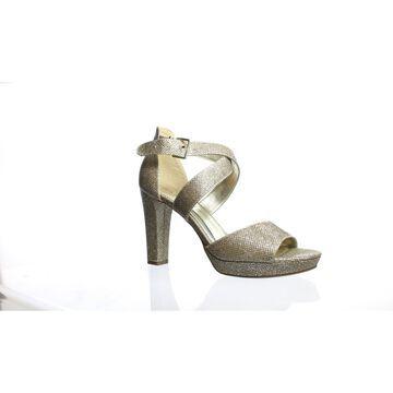 Rampage Womens Kalico Blush Glitter Ankle Strap Heels Size 7.5