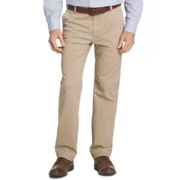 Izod Performance Stretch Chino Straight Fit Flat Front Pants -
