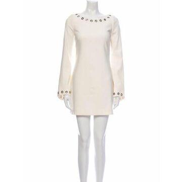 Bateau Neckline Mini Dress