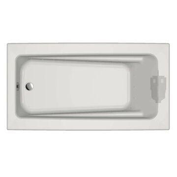 Jacuzzi Primo 32-in W x 60-in L White Acrylic Rectangular Reversible Drain Drop-In Air Bath   P1D6032ALR2XXW