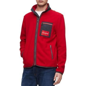 Calvin Klein Jeans Mens Fleece Jacket Casual Long Sleeves - L