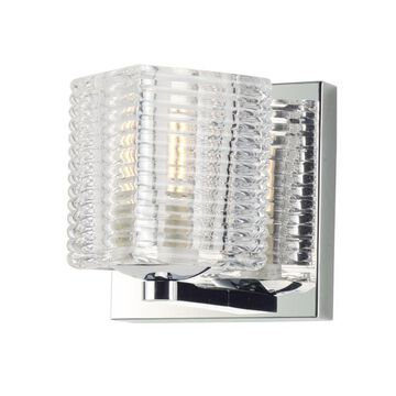 Maxim Lighting Groove 4.75-in W 1-Light Polished Chrome Transitional Wall Sconce