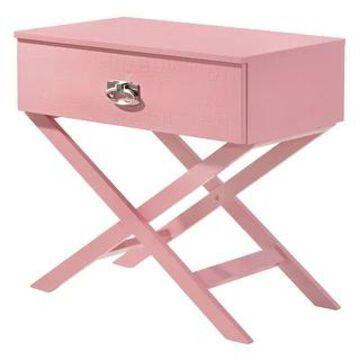 Xavier 1-drawer Nightstand (Pink)