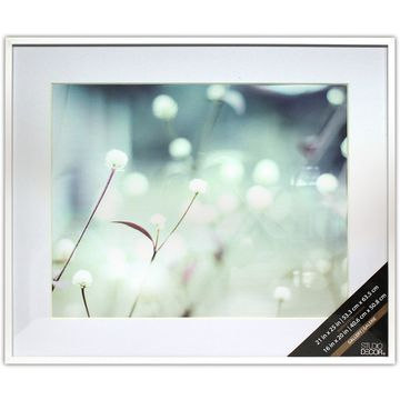 White Thin Frame with Mat, Gallery by Studio Decor