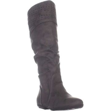 Seven Dials Womens Dillon Suede Closed Toe Knee High