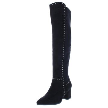 Seven Dials Womens Nicki Studded Faux Suede Over-The-Knee Boots