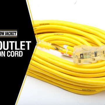 Southwire Yellow Jacket 50-ft 12/3 3-Prong Outdoor SJTW Heavy Duty Lighted Extension Cord | 2827