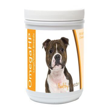 840235115205 Staffordshire Bull Terrier Omega HP Fatty Acid Skin & Coat Support Soft Chews, 90 Count