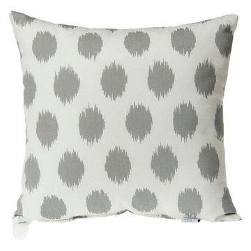 Swizzle Gray Dot Pillow