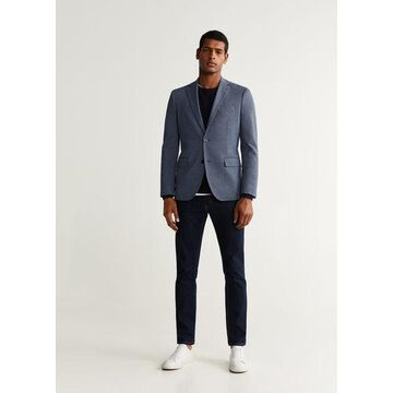 MANGO MAN - Slim fit fine-striped blazer blue - 42 - Men