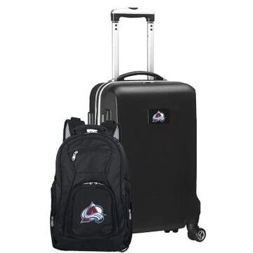 NHL Colorado Avalanche 2-Piece Backpack and Carry On Luggage Set in Black
