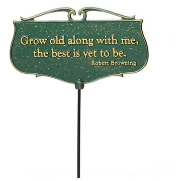 Garden Poem Sign With 17