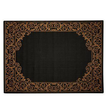 Oasis 78 x 10 Scroll Border IndoorOutdoor Reversible Rug