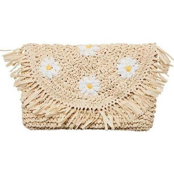 San Diego Hat Company Women's Crochet Paper Daisy Clutch BSB1737 Natural - US Women's One Size (Size None)
