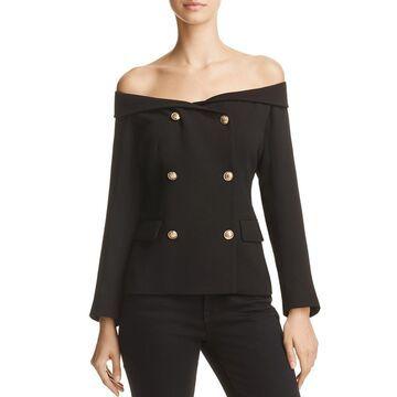 Bardot Womens Off-The-Shoulder Work Wear Blazer