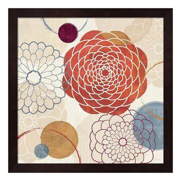 """Metaverse Art Abstract Bouquet I Framed Wall Art, Brown, 12""""X12"""""""