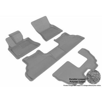 3D MAXpider 2007-2013 BMW X5 (E70) Front, Second, & Third Row Set All Weather Floor Liners in Gray Carpet