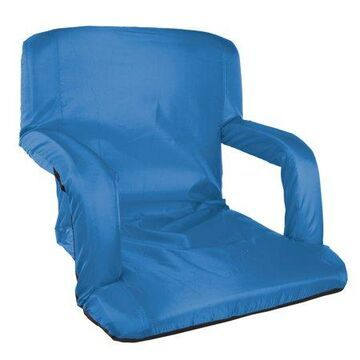 Stansport Multi Fold Padded Stadium Seat with Arms - Blue
