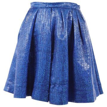 Msgm Blue Viscose Skirts