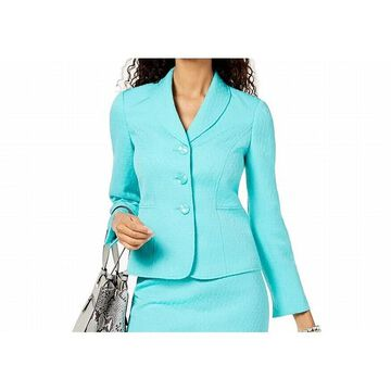 Le Suit Women's Jacket Jacquard Shawl-Collar Three-Button