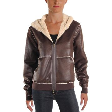 Bailey 44 Womens Bad Wolf Fall Hooded Bomber Jacket