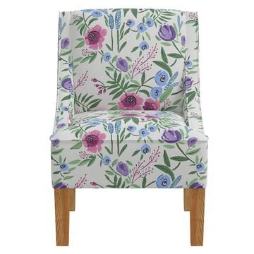 Accent Chair Grant Floral Purple - Skyline Furniture