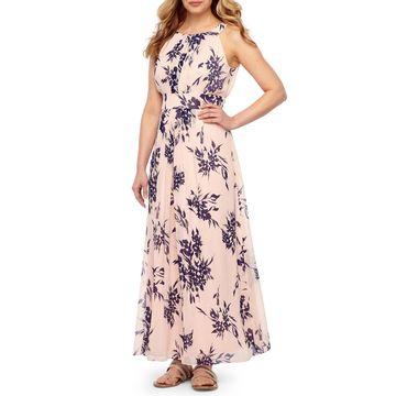 Ronni Nicole Sleeveless Floral Maxi Dress-Petite