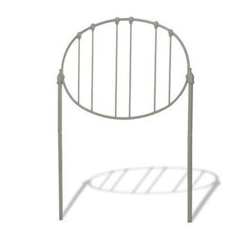 Emory Fashion Kids Metal Headboard with Oval-Shape Spindle Panel, Grey Finish, Full