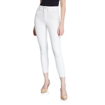 Peyton High-Rise Skinny Jeans w/ Double Waistband