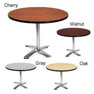 OFM 42-inch Round Table with Chrome Base