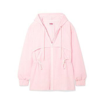 Solid & Striped - Checked Seersucker Jacket - Pastel pink