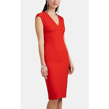 Narciso Rodriguez Virgin Wool Fitted Midi-Dress
