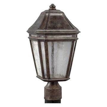 Feiss Londontowne LED Outdoor Post, Weathered Chestnut