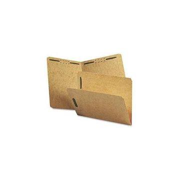 Smead Kraft K Style Fastener Folders, Straight Cut, Top Tab, Letter, Brown, 50/Box - SMD14813