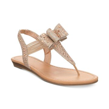 Material Girl Womens Shayleen Open Toe Casual T-Strap