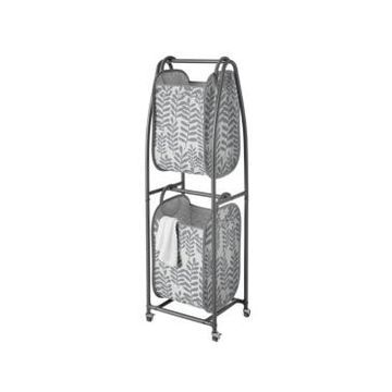 Neatfreak Everfresh 2-Tier Rolling Vertical Laundry Sorter with Hamper-Totes