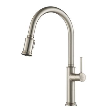Kraus Pull Down Kitchen Faucet with Dual Function Sprayhead Stainless Steel