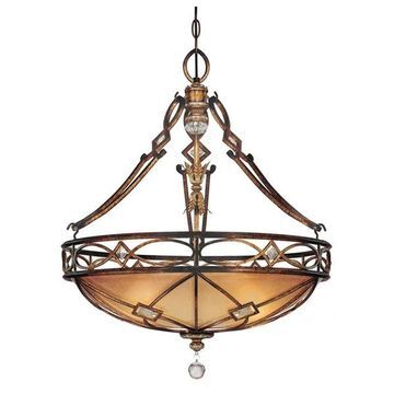 Minka Lavery ML 1747 3 Light Indoor Bowl Shaped Pendant - Bronze