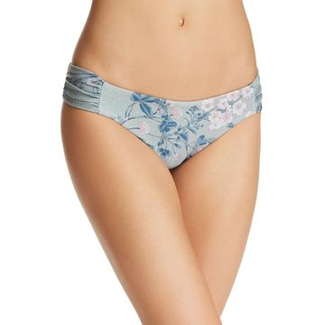 Becca Womens Serene Metallic Floral Swim Bottom Separates