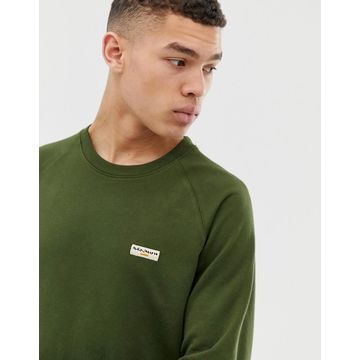 Nudie Jeans Co Samuel basic logo sweatshirt in khaki