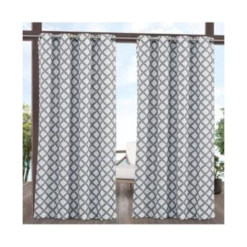 """Exclusive Home Curtains Bamboo Trellis Indoor - Outdoor Light Filtering Grommet Top Curtain Panel Pair, 54"""" x 108"""", Set of 2"""