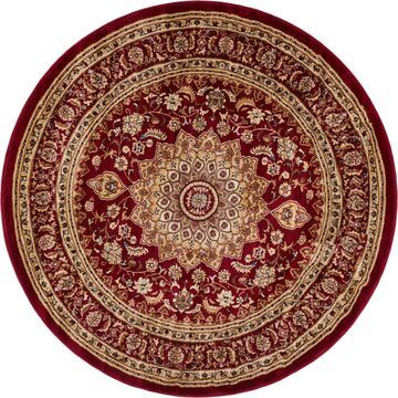 Well Woven Traditional French Oriental Round Rug (5'3 Round)