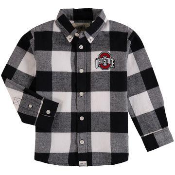 Ohio State Buckeyes Toddler Nicholas Flannel Button-Down Shirt - Black