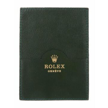 Leather Graphic Print Card Holder Green