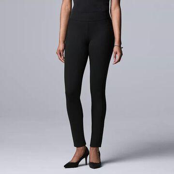 Women's Simply Vera Vera Wang Seamed Scuba Skinny Pants, Size: XL, Black