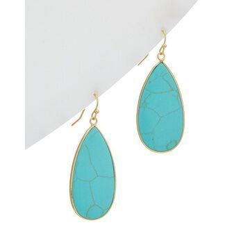 Kenneth Jay Lane 22K Electroplated Drop Earrings